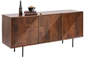 Kare Design Grooves Bruin Houten Dressoir - 164x40x79cm.