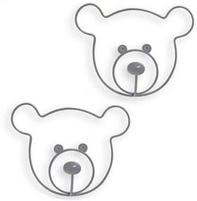 Balvi Kapstok The Bear 20 X 16,5 Cm Metaal  2 Stuks