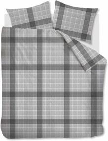 Beddinghouse | Dekbedovertrekset Keith tweepersoons: breedte 200 cm x lengte 200/220 cm + grijs dekbedovertrekken katoen | NADUVI outlet