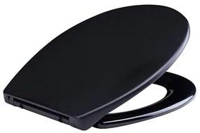Wiesbaden Ultimo 3.0 toiletzitting inclusief deksel one-touch met softclose zwart mat 32.3773