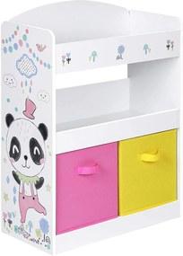 Nancy's Arthur Kinderkamerkast - Opslagkast - Speelgoedkast - Speelgoedorganizer - Opbergdozen - Roze - Geel - Wit - MDF