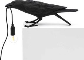 Seletti Bird Playing tafellamp zwart