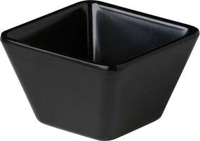 Vierkant Bakje Zwart - 11 cm - 12 stuks
