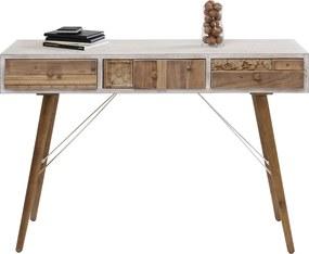 Kare Design Davos Wit Bureau Met Houten Lades - 120 X 36cm.