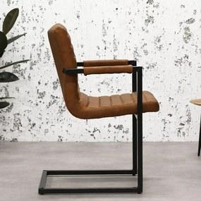 Dimehouse | Eetkamerstoel Rodney breedte 54 cm x diepte 60 cm x hoogte 83 cm zwart eetkamerstoelen microvezel, metaal stoelen | NADUVI outlet