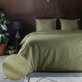 Fresh & Co Bamboo Feel - Olijfgroen 1-persoons (140 x 200/220 cm + 1 kussensloop) Dekbedovertrek
