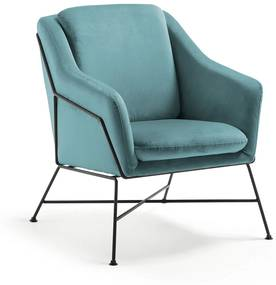 Kave Home Brida Armfauteuil Fluweel Turquoise