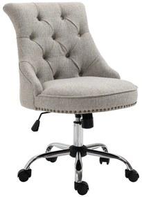 HOMdotCOM Draaistoel gestoffeerde stoel directiestoel 150 kg draagvermogen, in hoogte verstelbaar linnen