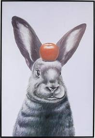 Kare Design Apple On A Bunny Schilderij Konijn