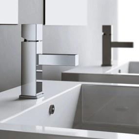 Wastafelkraan Hotbath Bloke Opbouw Hoog Mengkraan Vierkant Glans Chroom