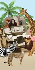 Strandlaken, 6423-P Jeep Jungle
