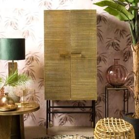Renew Ranco Gouden Wandkast Ribbels - 75x42x180cm.