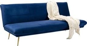 Kare Design Soda Blue Slaapbank Van Blauw Fluweel