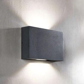 LED buitenwandlamp Isalie in donkergrijs