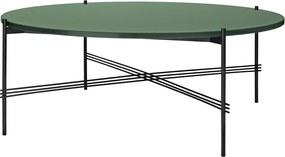 Gubi TS Table Glass salontafel 105cm zwart onderstel dusty green