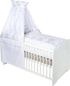 Zöllner 7-dlg. kinderledikant »Dierenvriend« bed+matras+hemelstang+hemel+hoofdbeschermer+overtrekset