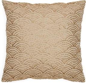 Rivièra Maison - Enchanting Beaded Pillow Cover - Kleur: beige