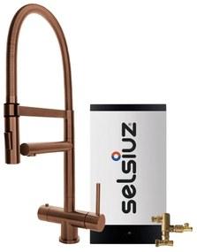 Kokendwaterset met kraan XL - koper - combi boiler