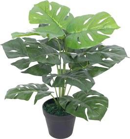 Kunst monstera plant met pot 45 cm groen