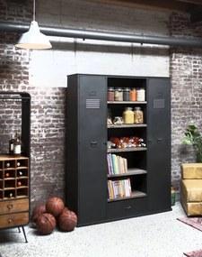rootsmann Grote industriele boekenkast met deuren