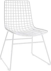 HKliving Wire stoel wit set van 2