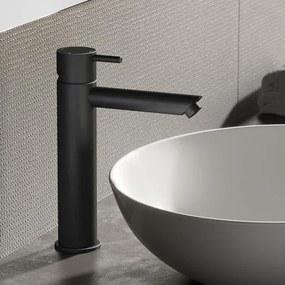Hotbath Cobber verhoogde wastafelkraan mat zwart CB003MSBL