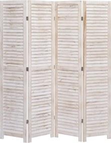 Kamerscherm met 4 panelen 140x165 cm hout