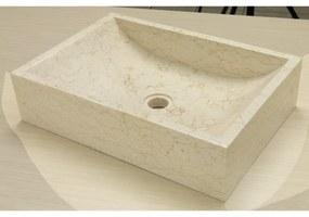 Waskom Imso Lavabo Quadrato Beige Marmer 50x35x12 cm