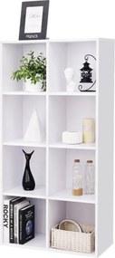Nancy's Boekenkast Met 8 vakken - Planken Van Hout - Vrijstaande Kast – Opberger Voor Kantoor Of Thuis – Wit
