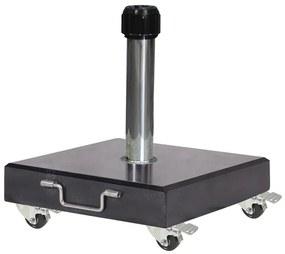 Platinum Verrijdbare parasolvoet Rome 40 kg - black polished