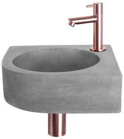 Cleo fonteinset - kraan recht - beton - koper