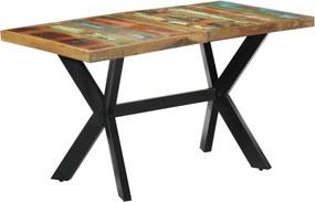 Eettafel 140x70x75 cm massief gerecycled hout