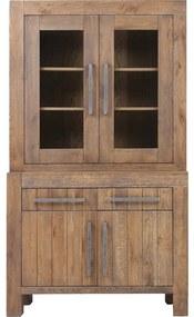 Goossens Buffetkast Roots, 2 glasdeuren 2 dichte deuren 2 laden