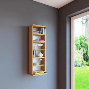 Wandkast vakkenkast Loposa met glazen deur beuken