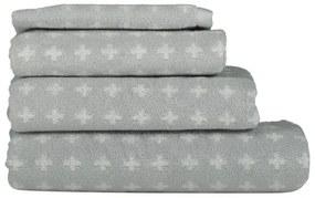 Handdoeken - Zware Kwaliteit - Kruisje Lichtgrijs (lichtgrijs)