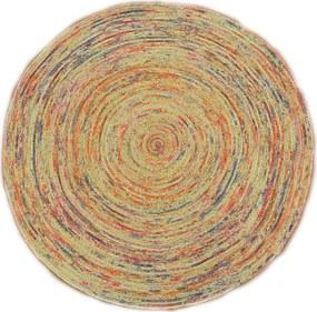 Bakero   Vloerkleed Ross Hoogpolig lengte 120 cm x breedte 120 cm x hoogte 1,00 cm multicolour vloerkleden jute vloerkleden   NADUVI outlet