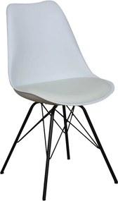 Viverne | Eetkamerstoel Wengen breedte 59 cm x diepte 58 cm x hoogte 85 cm wit, zwart eetkamerstoelen kunststof, metaal, | NADUVI outlet