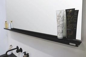 Stalen planchet tbv rechthoekige spiegel - mat zwart 1000xmm (bxd)