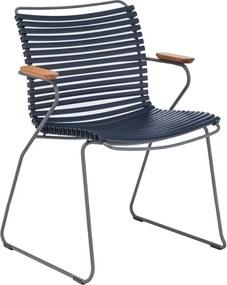 Houe Click Armchair tuinstoel dark blue set van 2