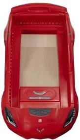 Kinderbed Corvette Z06 257 cm rood