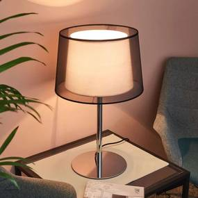 Elegante tafellamp Thedo met stoffen kap