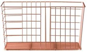 Opbergmand Riga - koper - 34x18x24,5 cm - Leen Bakker