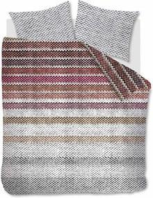 Beddinghouse   Dekbedovertrekset Jarn eenpersoons: breedte 140 cm x lengte 200/220 cm + donker rood dekbedovertrekken flanel   NADUVI outlet