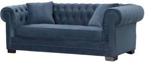Bank Chesterfield Classic Velvet Midnight 3-zits