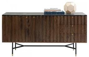 Kare Design Apiano Dressoir Van Acacia En Marmer - 150x45x76cm.