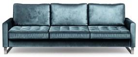 Rivièra Maison - West Houston Sofa 3,5 Seater, velvet, petrol - Kleur: blauw