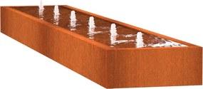 Watertafel cortenstaal rechthoek