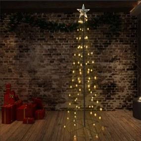 Kerstboom kegel 140 LED's binnen en buiten 72x240 cm