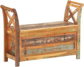 Halbank 103x33x72 cm massief gerecycled hout