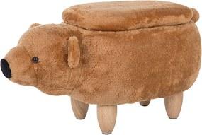 Hocker zachte bekleding goud bruin BEAR